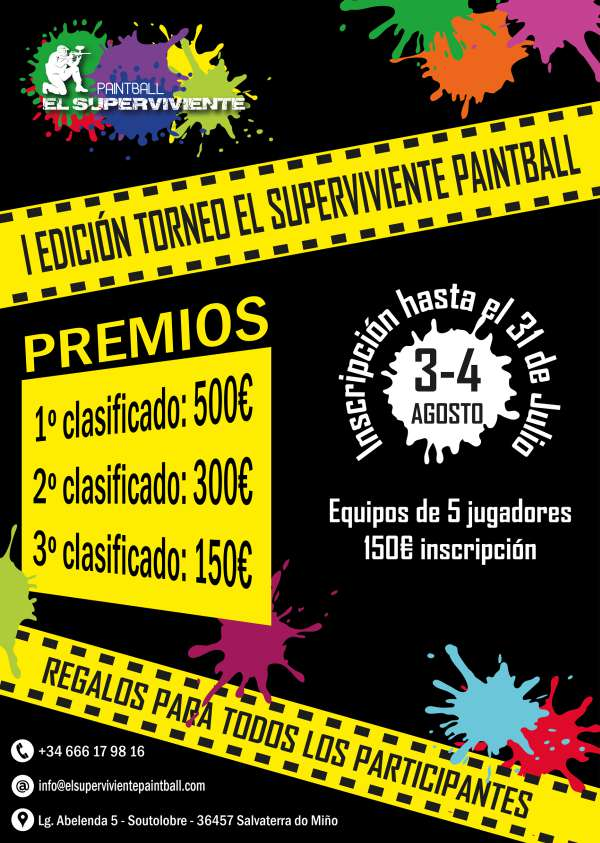 Cartel del Torneo El Superviviente Paintball - I Edición
